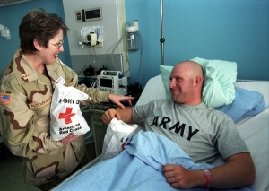 Visiting Troops in the Hospital